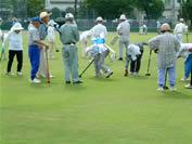 グラウンドゴルフ大会の写真